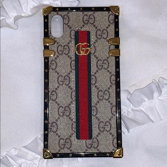 timeless design 28bd2 b5691 iPhone XS Max Gucci trunk case